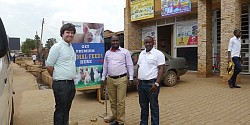 Adam Sweetman at the opening of the distribution centre in Kalerwe, Kampala