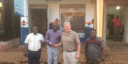 Michael Maguire at the Opening of the 1st distribution store in Hoima, Uganda