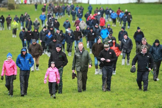 Over 100 farmers braved the elements for Dairylink walk in wet west Tyrone